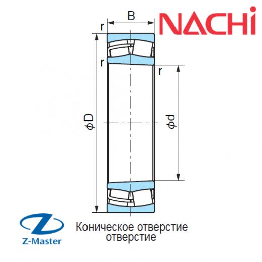 22205-K-EX подшипник Nachi
