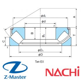 29424-EX подшипник Nachi