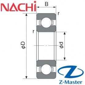 6902-C4 подшипник Nachi