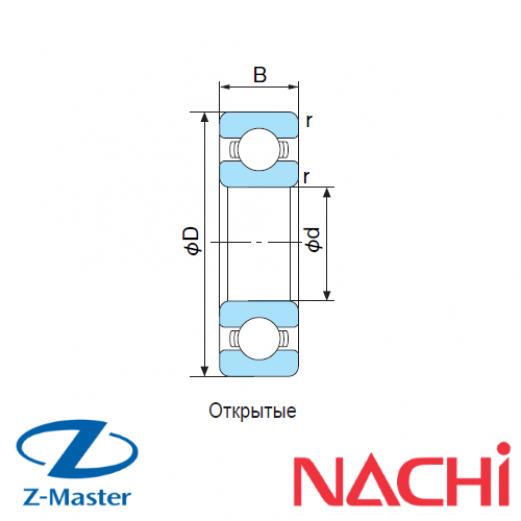 16010-C3-Ind подшипник Nachi