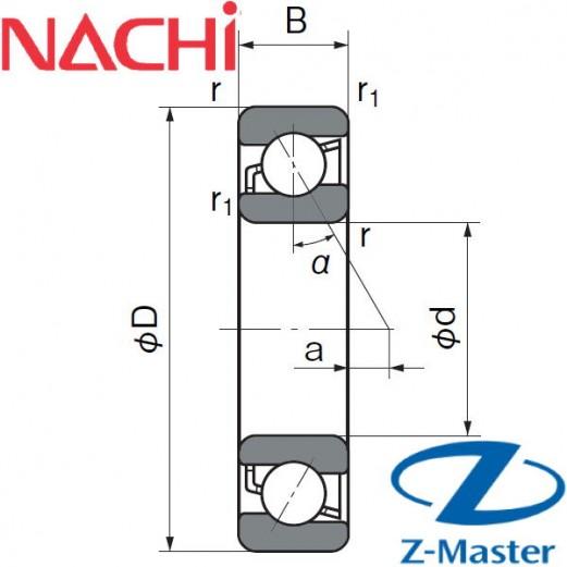 7004-AC-Y-U-GL-P4 подшипник Nachi шпиндельный 7004ACYU/GLP4