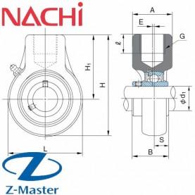 UCECH203 шатунная головка Nachi