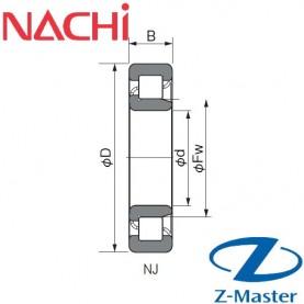 NJ205 подшипник Nachi