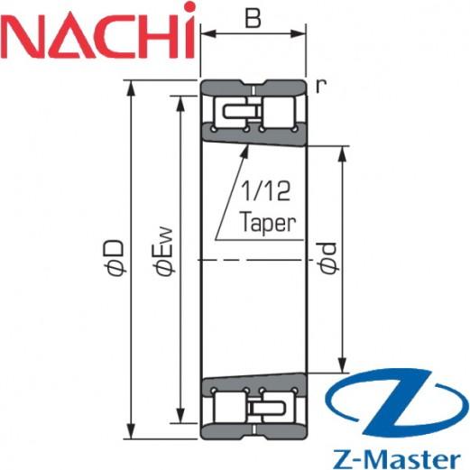 NN3011WKP4 подшипник Nachi NN3011-K-W33-P4