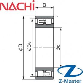 NN3011P5 подшипник Nachi NN3011-P5