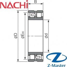 NN3010WP4 подшипник Nachi NN3010-W33-P4