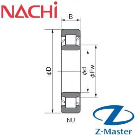 NU203 подшипник Nachi NU203