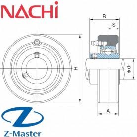 UCC204 картриджный подшипниковый узел Nachi