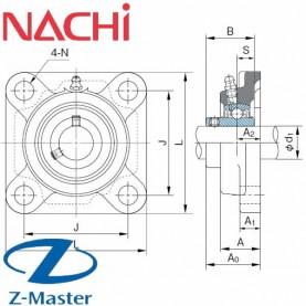 UCF201 фланцевый узел Nachi