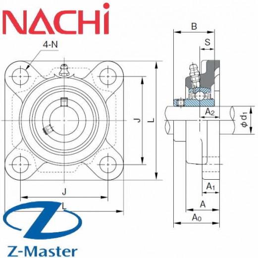 UCF204 фланцевый узел Nachi