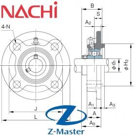 UCFC202 круглый фланцевый узел Nachi