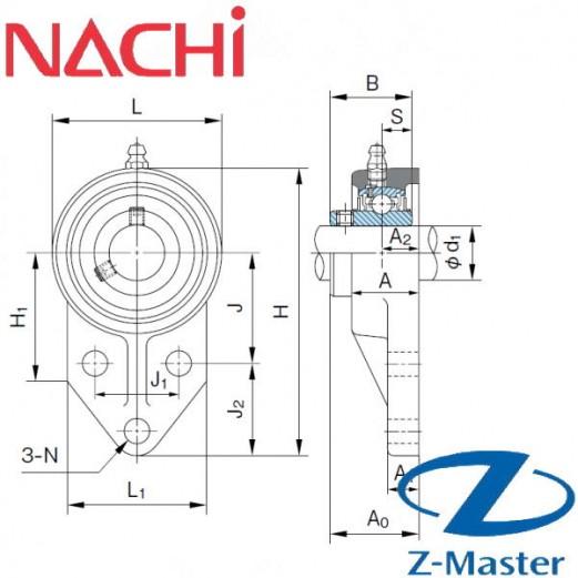UCFK205 трехболтовой фланцевый узел Nachi