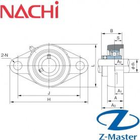 UCFL202 овальный фланцевый узел Nachi