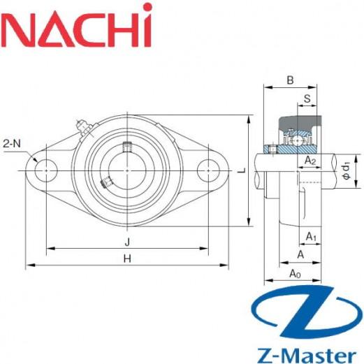 UCFL204-12 овальный фланцевый узел Nachi